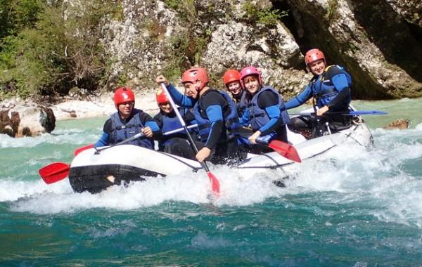 Soca rafting hétvége